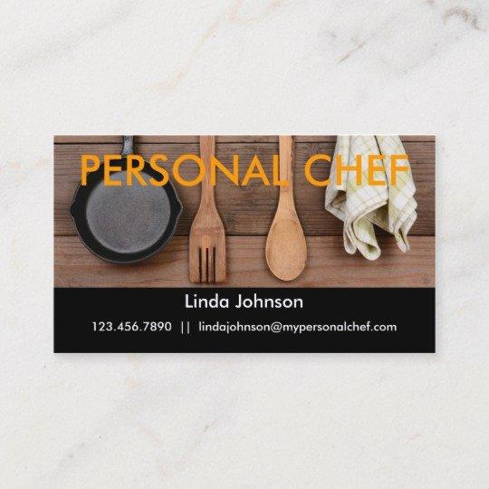 Personal Chef Business Card Unique Elegant Personal Chef Business Card
