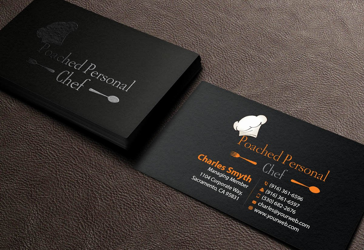 Personal Chef Business Cards Beautiful Modern Bold Chef Business Card Design for A Pany by Mediaproductionart