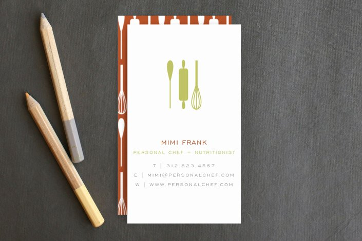 Personal Chef Business Cards Beautiful Personal Chef Business Cards by Lehan Veenker