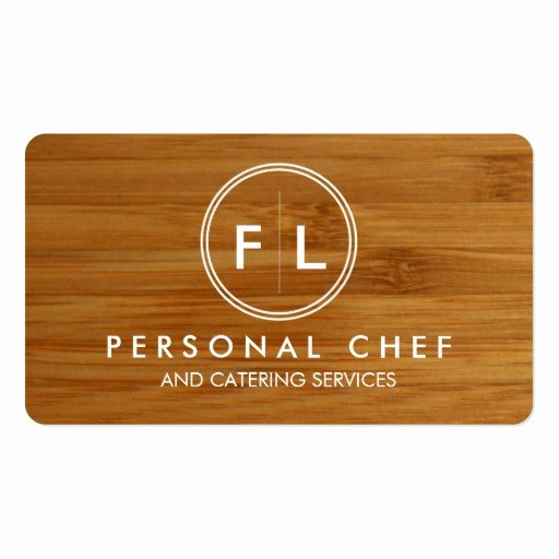 Personal Chef Business Cards Elegant Cutting Board Personal Chef Catering Business Card