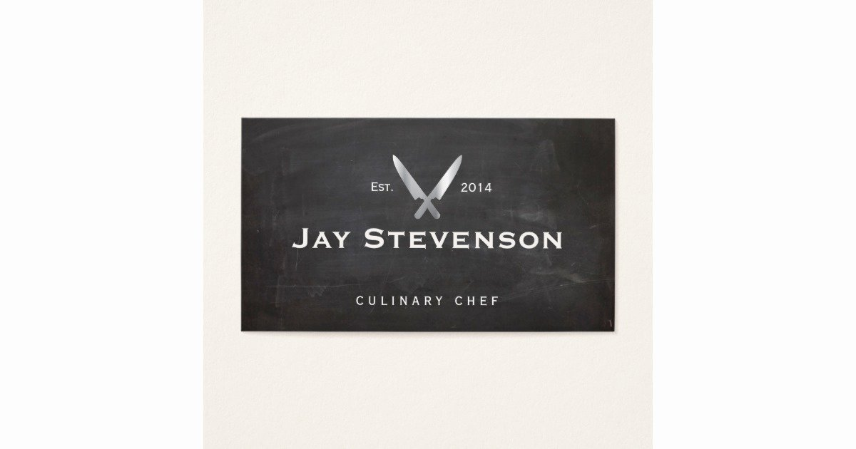 Personal Chef Business Cards Inspirational Cool Personal Chef Knife Black Catering Logo Business Card