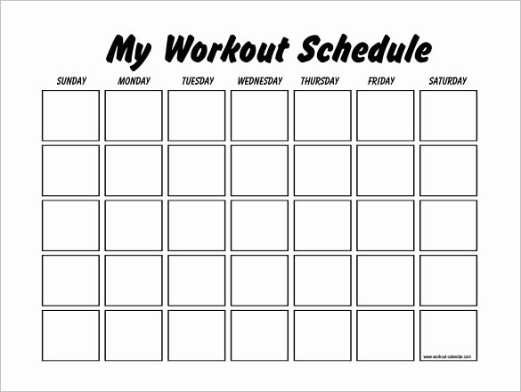 Personal Fitness Plan Template Awesome Workout Schedule Template 10 Free Word Excel Pdf format Download Workout Log