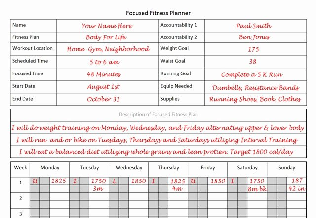 Personal Fitness Plan Template Elegant Fitness Planner the Planner I Used to Lose 26 Pounds In 12 Weeks