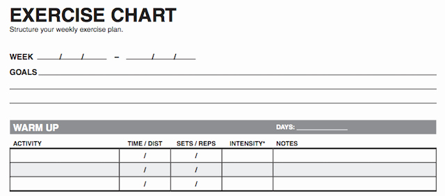 Personal Fitness Plan Template Inspirational 10 Excel Templates to Track Your Health and Fitness