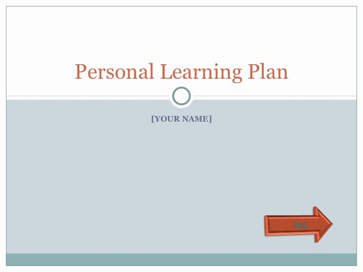 Personal Learning Plan Template Unique Personal Learning Plan Template