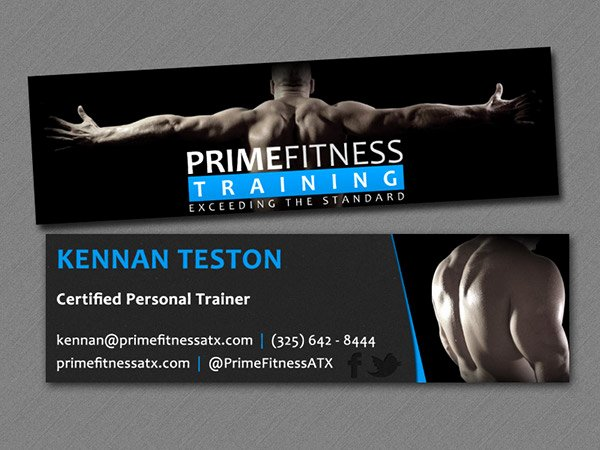 Personal Trainer Business Card Awesome Personal Trainer Business Cards On Behance