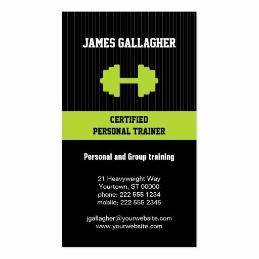 Personal Trainer Business Card Beautiful Personal Trainer Business Card