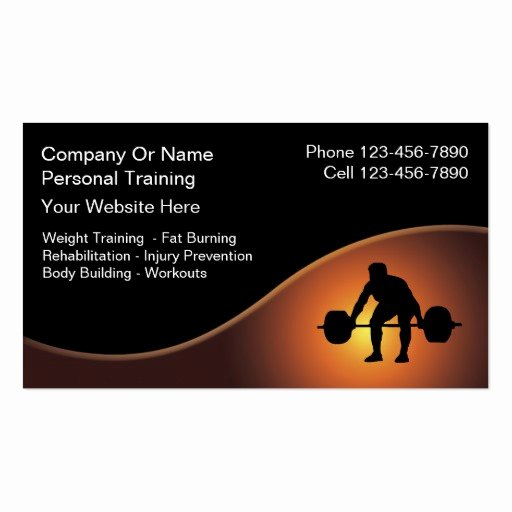 Personal Trainer Business Card Best Of Personal Trainer Business Cards New