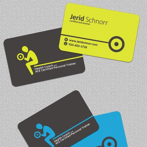 Personal Trainer Business Card Elegant Personal Trainer Business Card