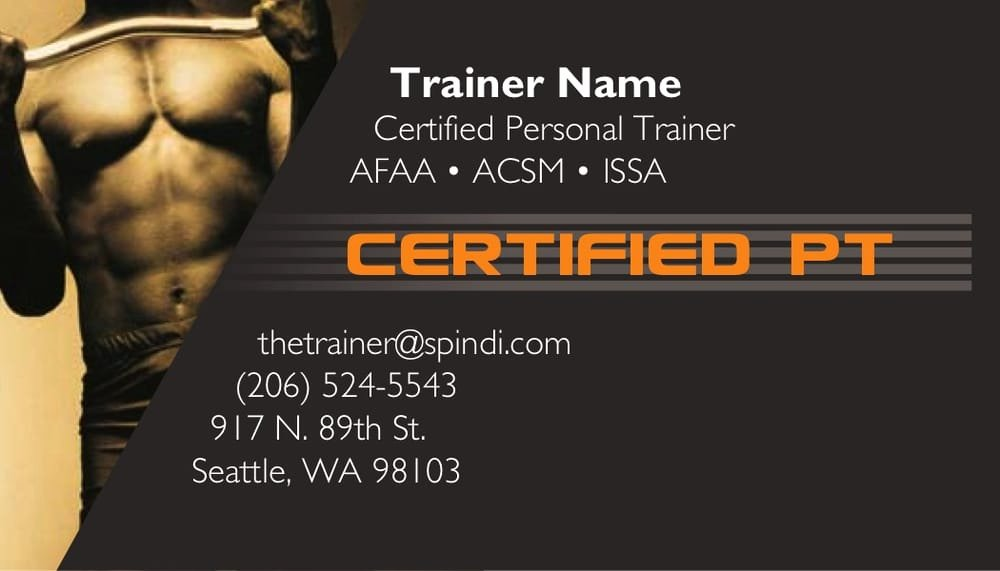 Personal Trainer Business Card Ideas Lovely Personal Training Business Cards Yelp