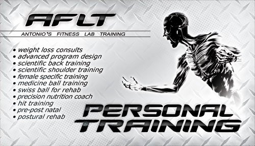 Personal Trainer Business Card Ideas Luxury Aflt Personal Training