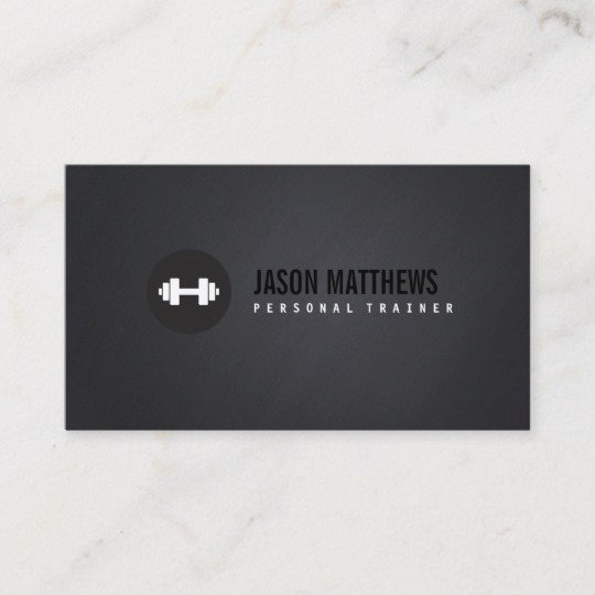 Personal Trainer Business Card Ideas Luxury Cool Personal Trainer White Dumbbell Logo Fitness Business