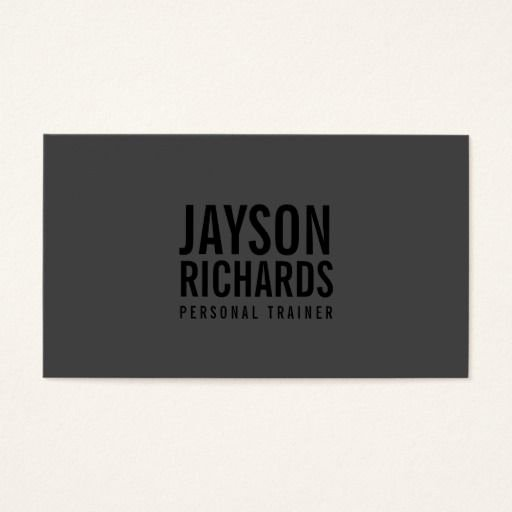 Personal Trainer Business Card Ideas New Bold Minimalist Black Gray Personal Trainer Business Card