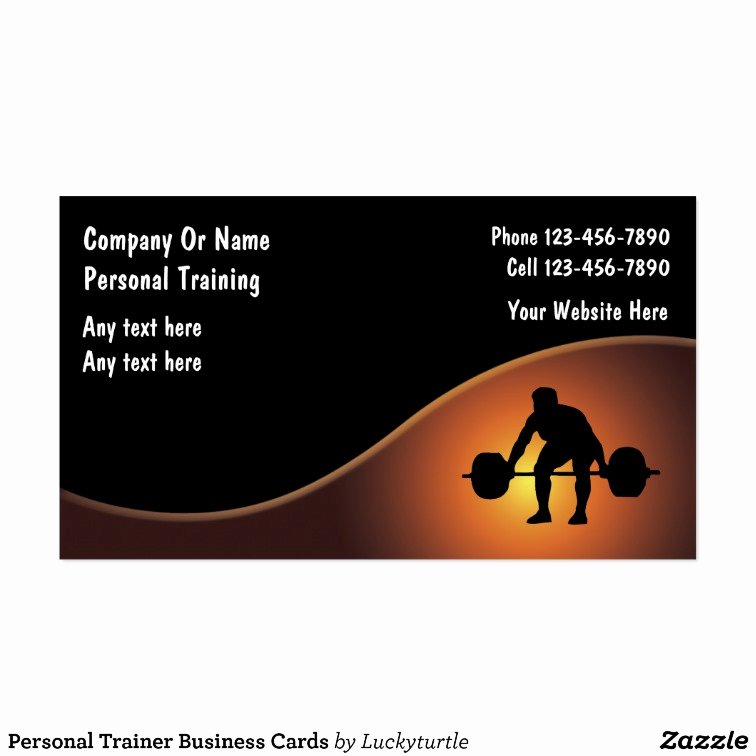 Personal Trainer Business Card Inspirational Personal Trainer Business Cards