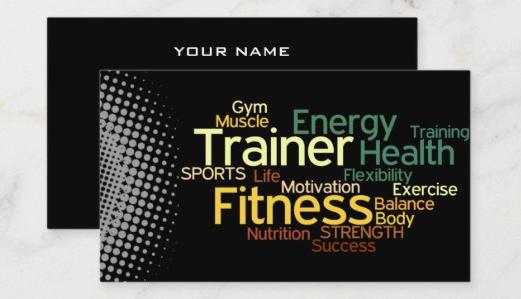 Personal Trainer Business Card Lovely top 27 Personal Trainer Business Cards Tips