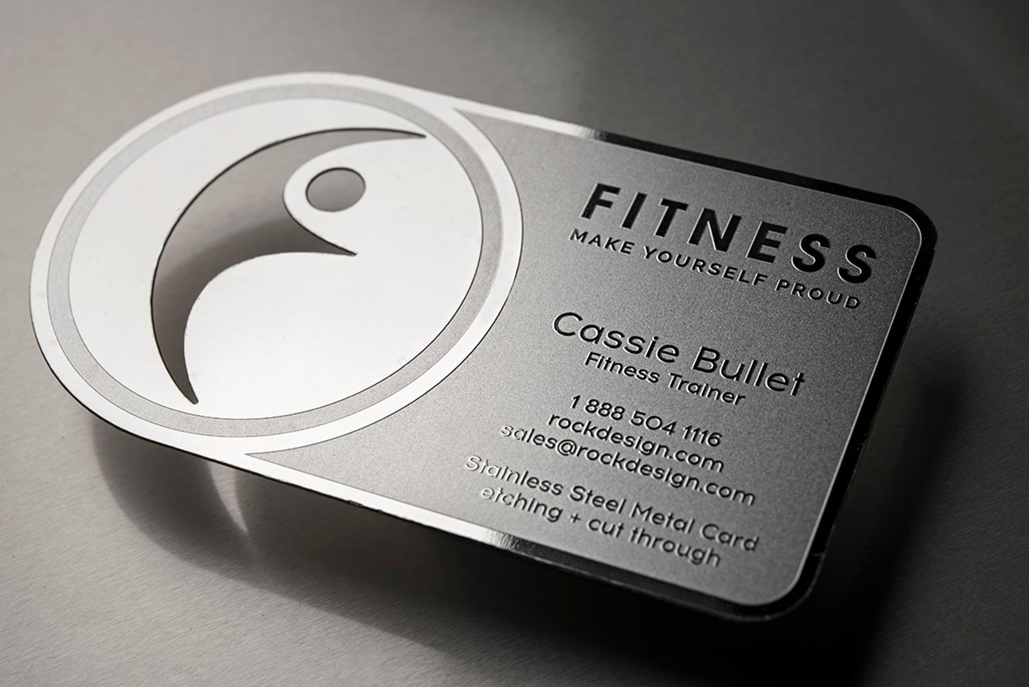 fitness business card stainless steel fitness