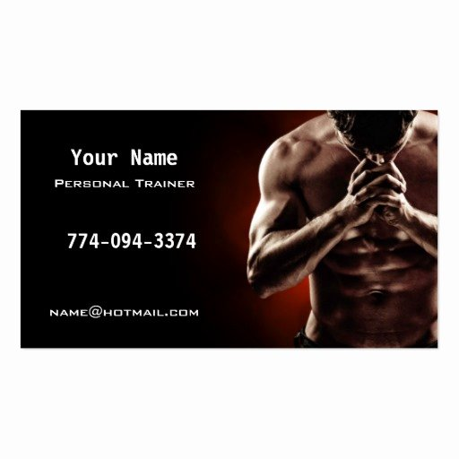 Personal Trainer Business Card New Personal Trainer Business Cards