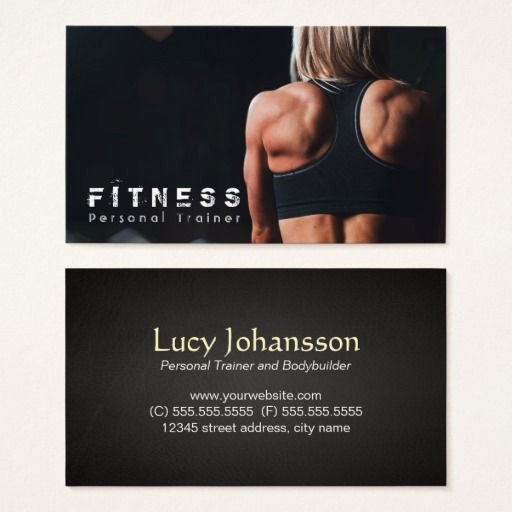 Personal Trainer Business Cards Awesome 287 Best Fitness Trainer Business Cards Images On Pinterest