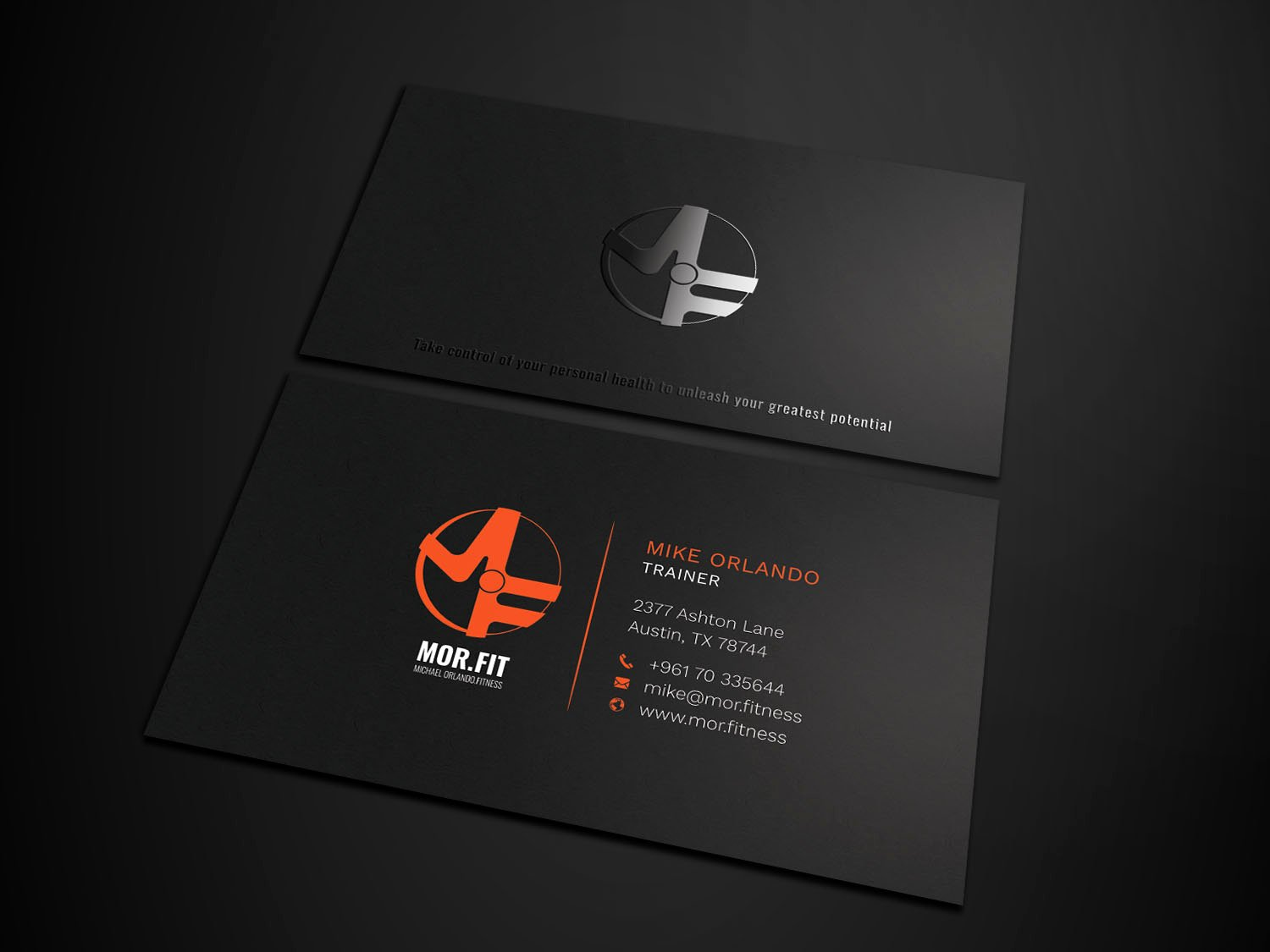 Personal Trainer Business Cards Awesome Professional Modern Personal Trainer Business Card Design for Michael orlando Fitness by