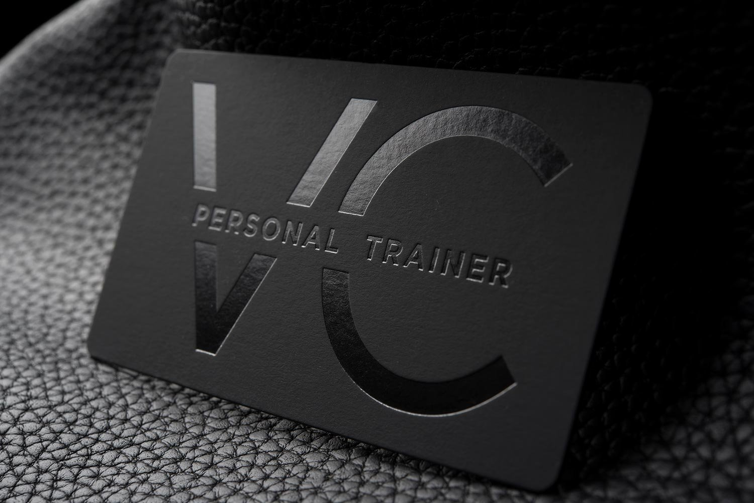 Personal Trainer Business Cards Elegant Free Impressive Hard Suede Personal Trainer Business Card Template Vc