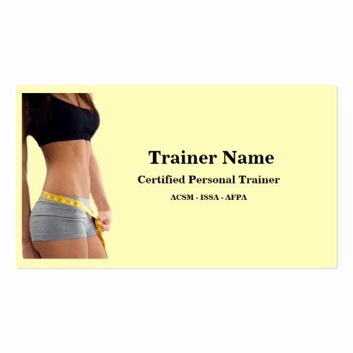 Personal Trainer Business Cards Fresh Personal Trainer Business Card