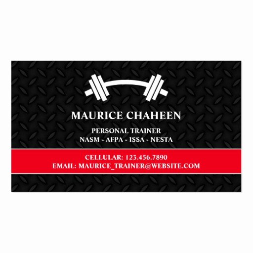 Personal Trainer Business Cards New Personal Trainer Business Card