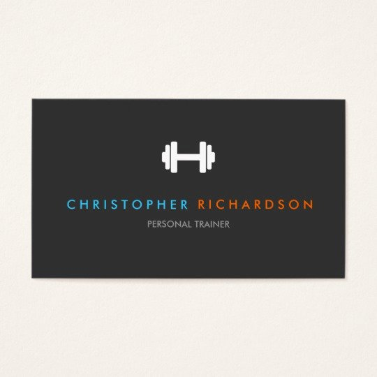 Personal Trainer Business Cards New Personal Trainer Logo with Blue and orange Text Business Card