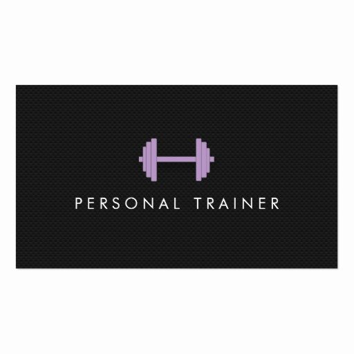 Personal Trainer Business Cards New Simple Personal Trainer Fitness Business Cards