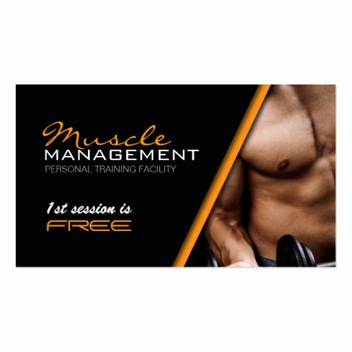 Personal Trainers Business Cards Beautiful Certified Personal Trainer Business Card