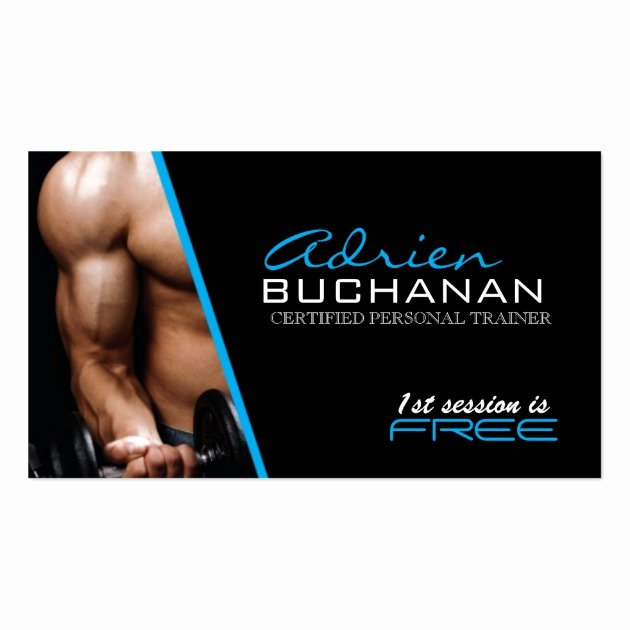 Personal Trainers Business Cards Beautiful Certified Personal Trainer Business Cards