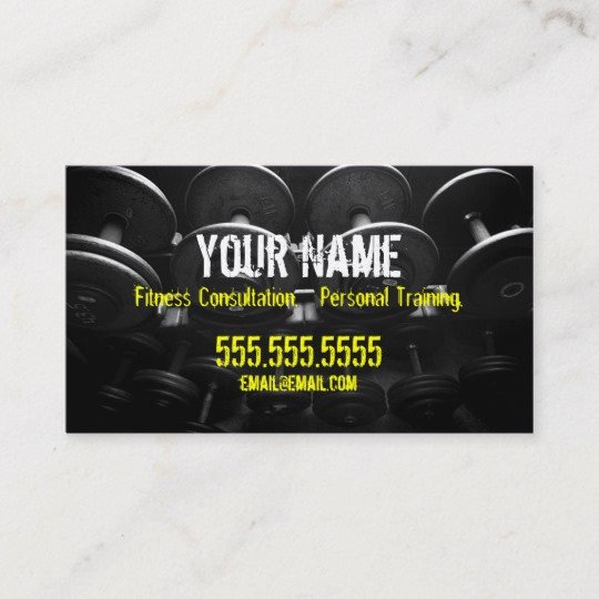 Personal Trainers Business Cards Beautiful Personal Trainer Business Card