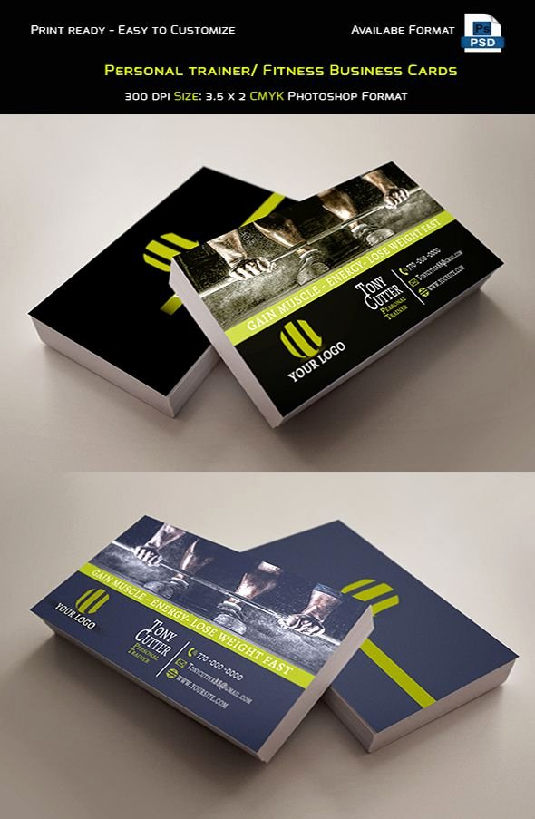 Personal Trainers Business Cards Beautiful Personal Trainer Fitness Business Cards Template Credit Mr tommy Contact Me