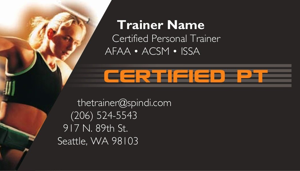 Personal Trainers Business Cards Best Of Body Series Personal Trainer Business Cards 1