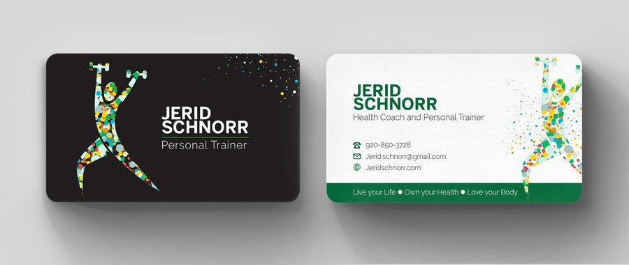 Personal Trainers Business Cards Luxury Personal Trainer Business Card