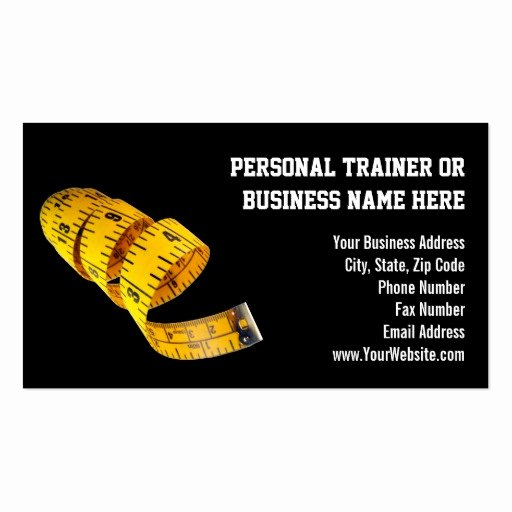 Personal Trainers Business Cards New Yellow Tape Measure Personal Trainer Weight Loss Business Card