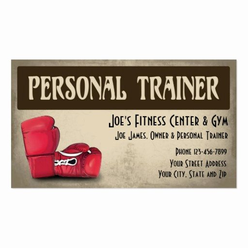Personal Training Business Card Awesome Personal Trainer Business Card