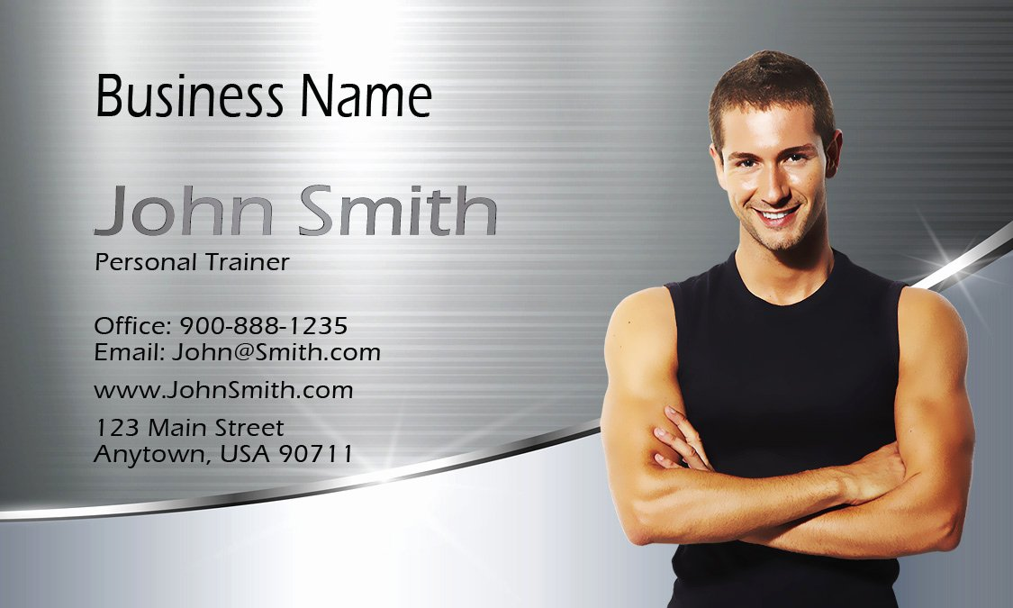Personal Training Business Card Beautiful Certified Personal Trainer Business Card Design