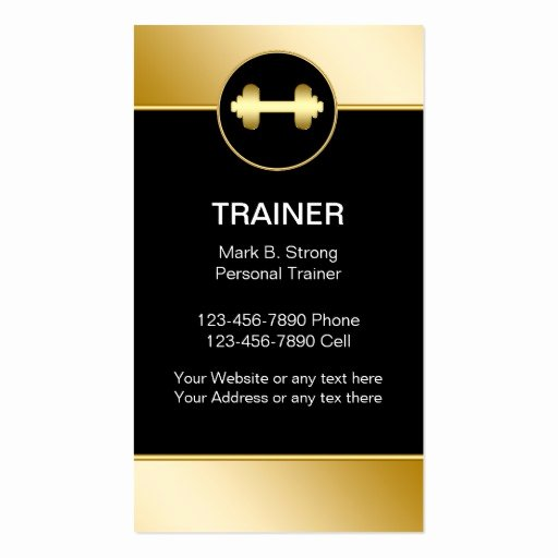 Personal Training Business Card Elegant Personal Trainer Business Cards