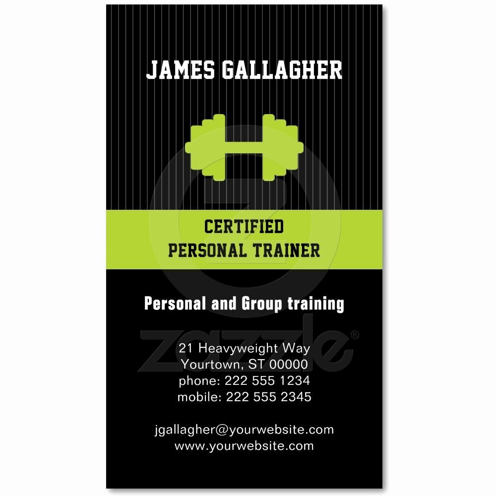 Personal Training Business Card Luxury Personal Trainer Business Card