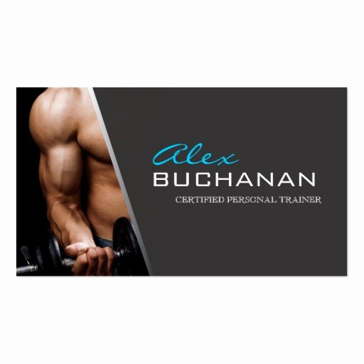 Personal Training Business Card Unique Certified Personal Trainer Business Card Templates