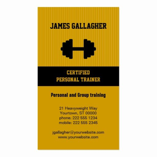 Personal Training Business Cards Beautiful Personal Trainer Business Card