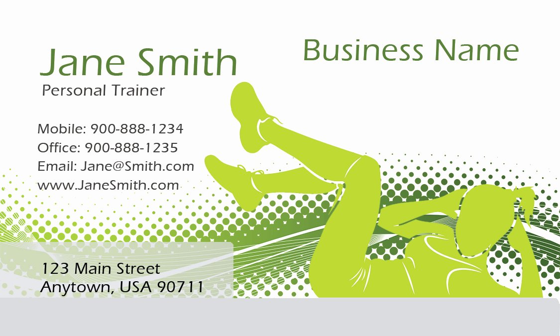 Personal Training Business Cards Best Of athletic Personal Trainer Business Card Design