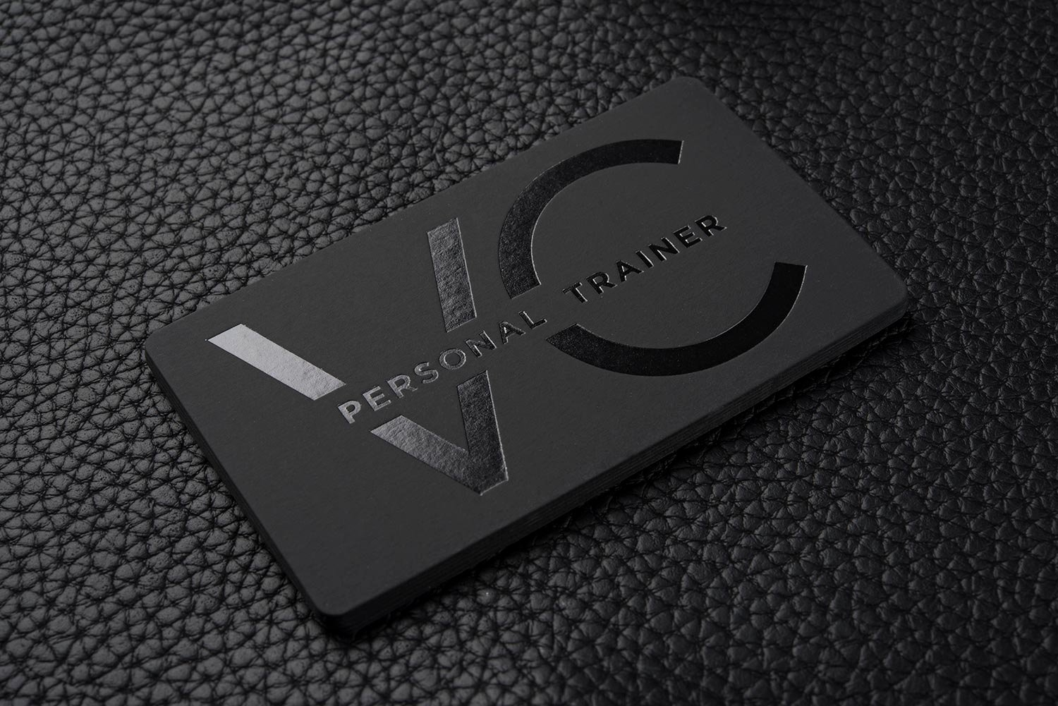 Personal Training Business Cards Elegant Free Impressive Hard Suede Personal Trainer Business Card Template Vc