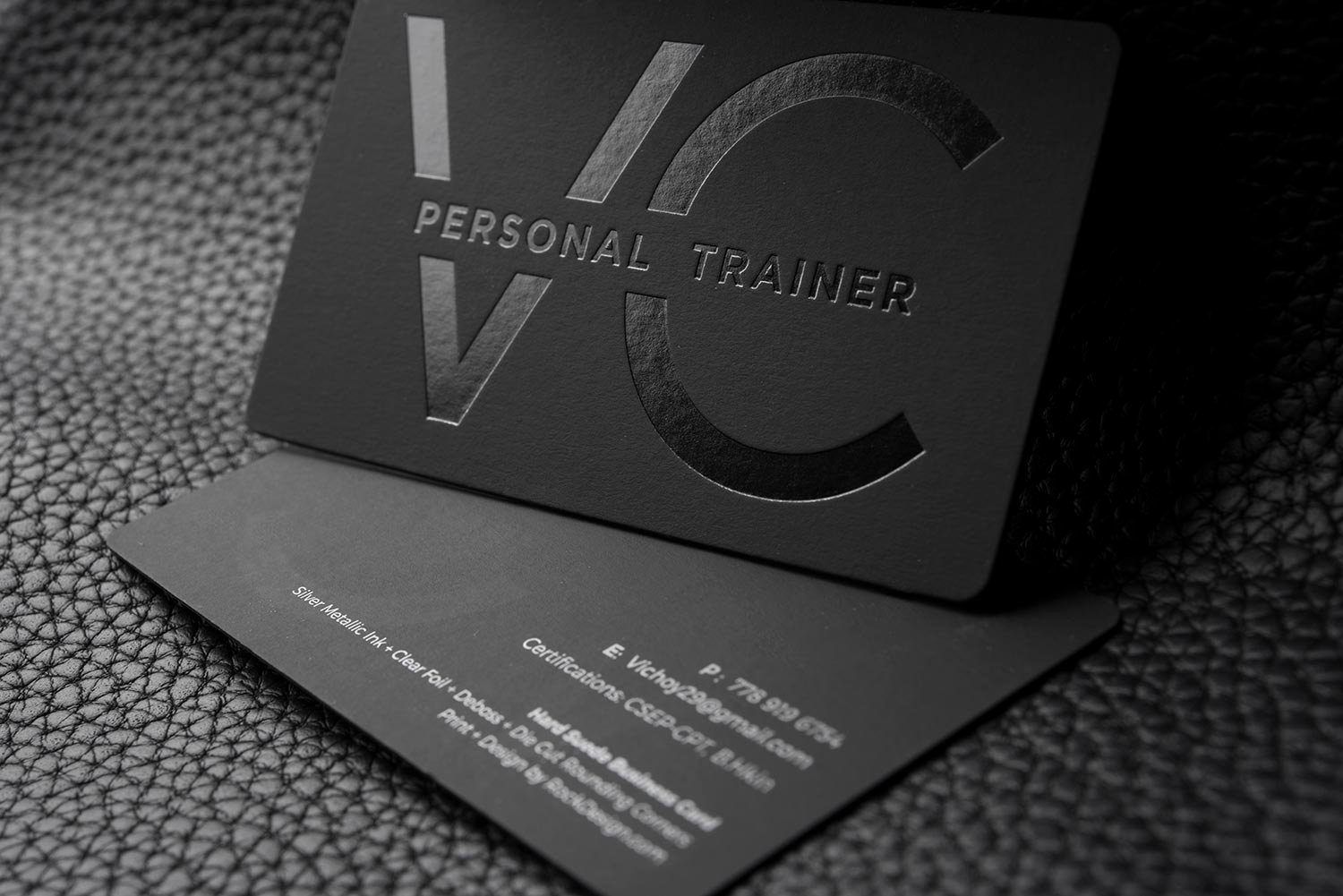Personal Training Business Cards Inspirational Free Impressive Hard Suede Personal Trainer Business Card Template Vc