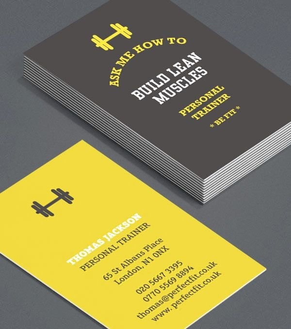 Personal Training Business Cards Inspirational Personal Trainer Business Card Design Design