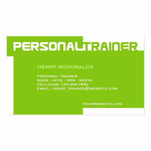 Personal Training Business Cards Inspirational Personal Trainer Business Card