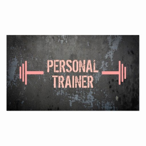 Personal Training Business Cards Inspirational Professional Grunge Personal Trainer Business Card