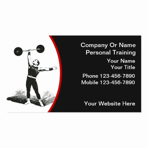 Personal Training Business Cards New Personal Trainer Business Cards