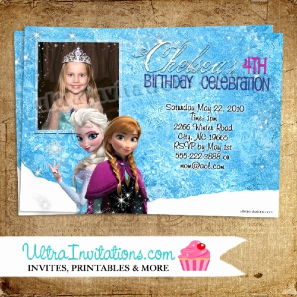 Personalized Frozen Birthday Invitations Best Of Personalized Frozen Birthday Invitations