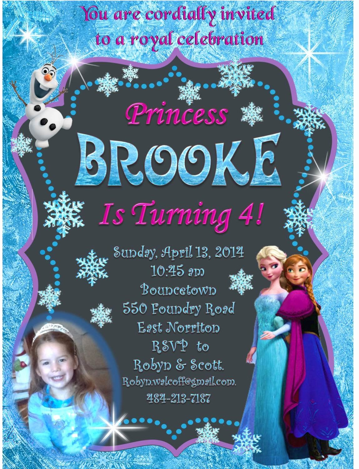 Personalized Frozen Birthday Invitations Elegant Frozen Invitation Disney Frozen Birthday Invitation – Bella Fashion Kidz